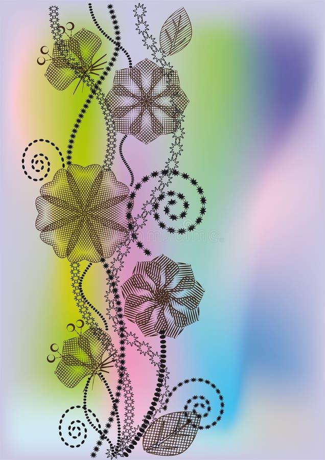 цветет график иллюстрация штока