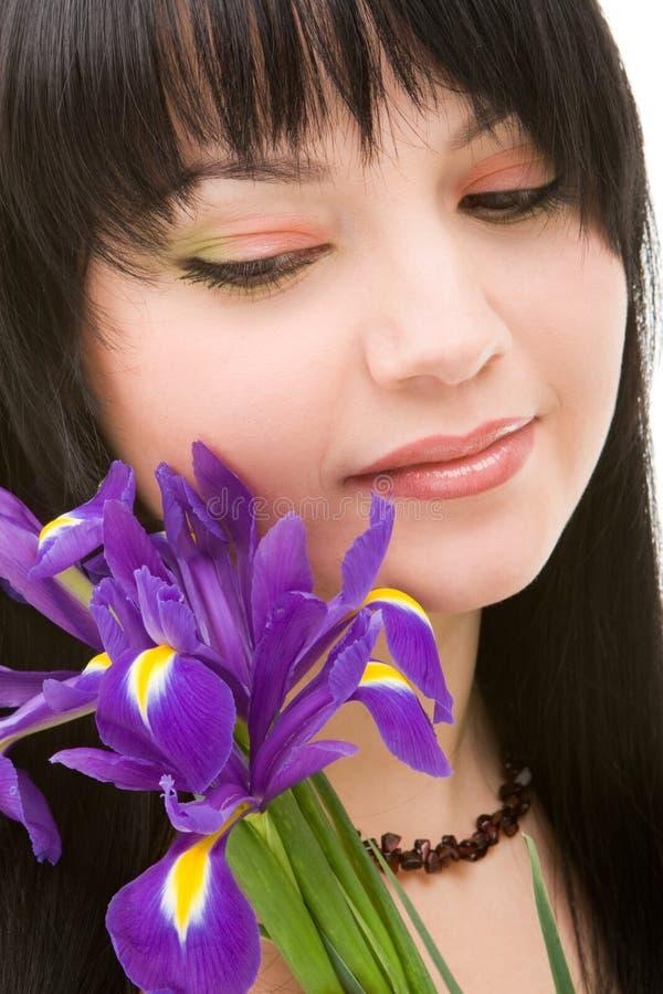 цветет детеныши женщины стоковая фотография rf