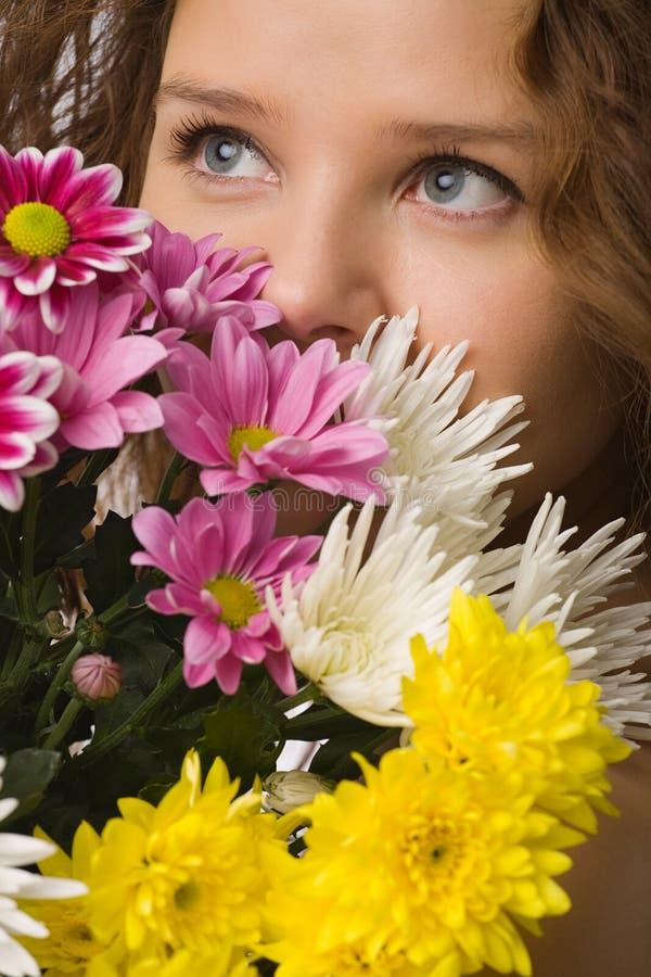 цветет женщина стоковые фотографии rf
