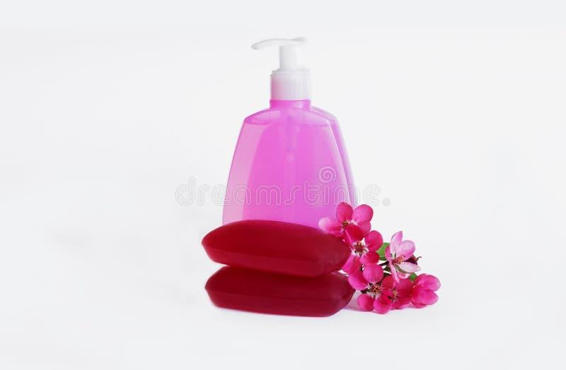 цветет жидкостное мыло стоковые изображения rf