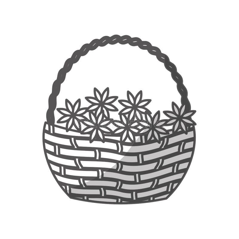 Download Цветет значок корзины иллюстрация вектора. иллюстрации насчитывающей иллюстрация - 81801567