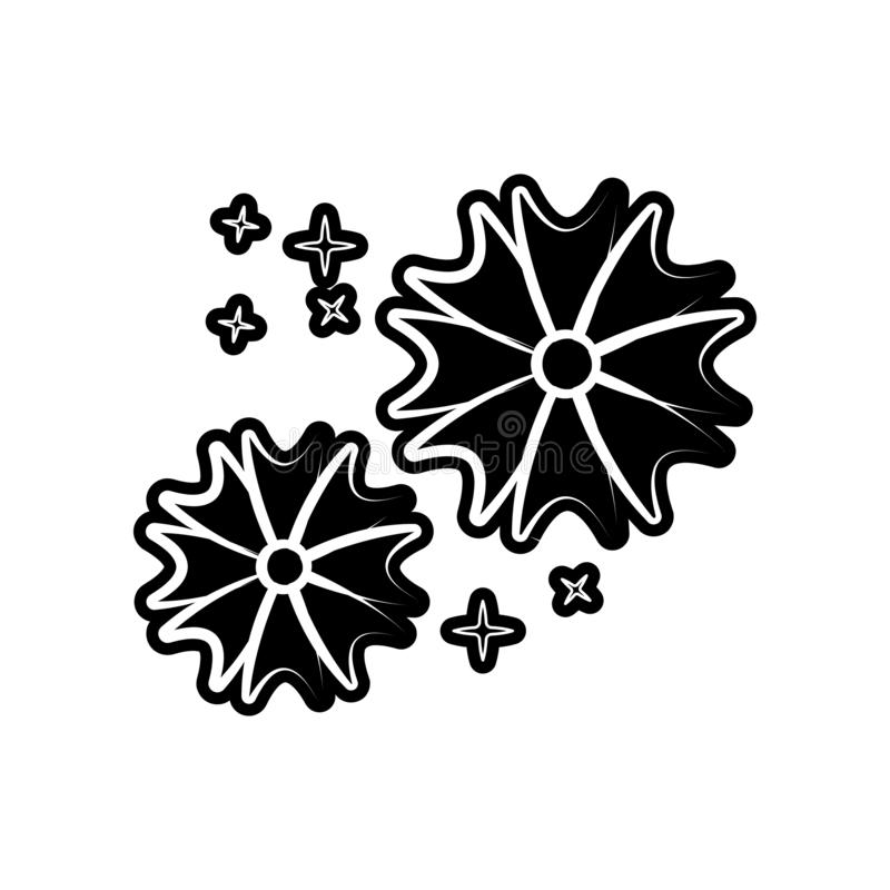 цветет икона Элемент dia de muertos для мобильных концепции и значка приложений сети Глиф, плоский значок для дизайна вебсайта и  иллюстрация штока