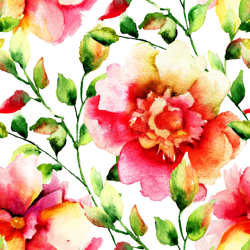 цветет иллюстрация стилизованная иллюстрация штока