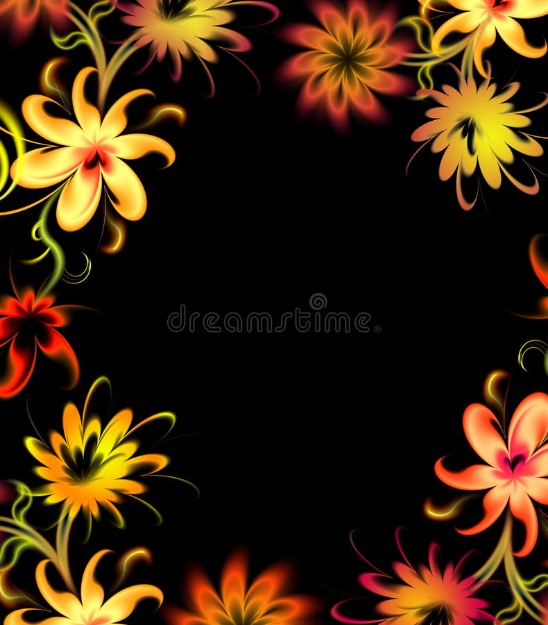цветет неон бесплатная иллюстрация