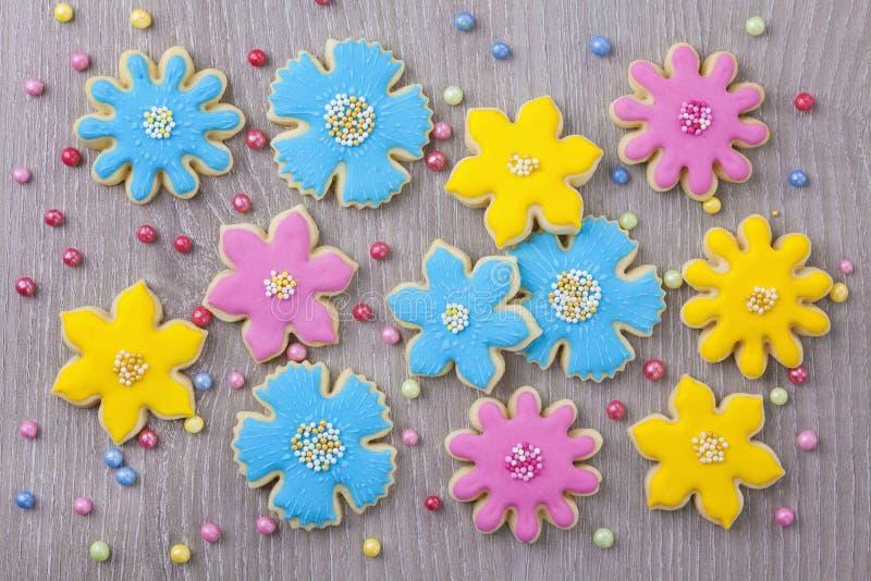 Цветет печенья стоковая фотография rf