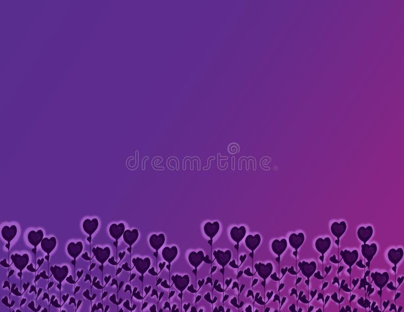 цветет пурпур сердца иллюстрация штока