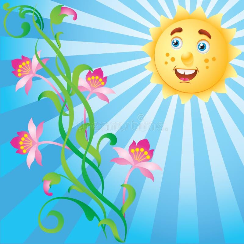 цветет солнечность бесплатная иллюстрация