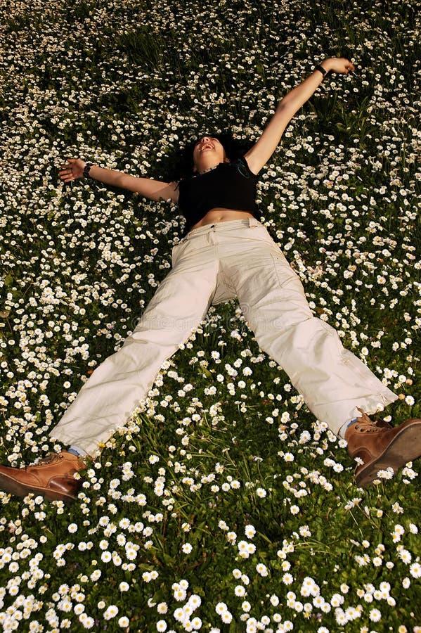 цветет счастье стоковая фотография rf
