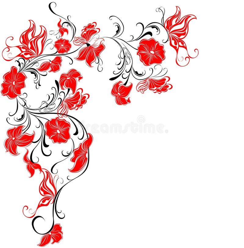 цветки бабочек флористические обрамляют вектор иллюстрация вектора