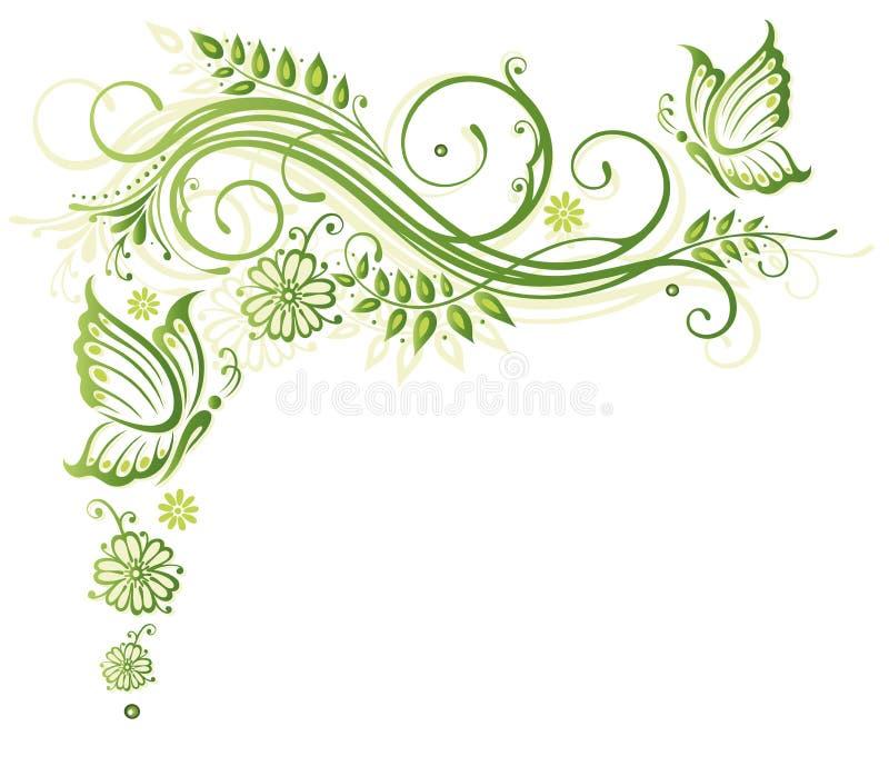 Цветки, весна, бабочки Стоковая Фотография RF