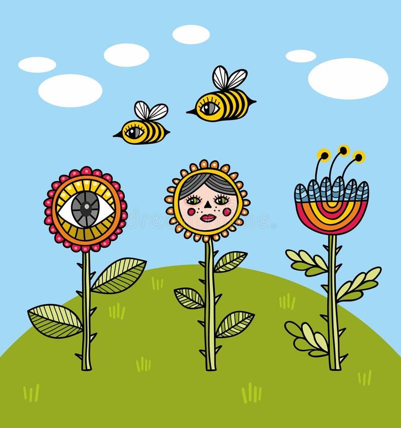 Цветки временени бесплатная иллюстрация