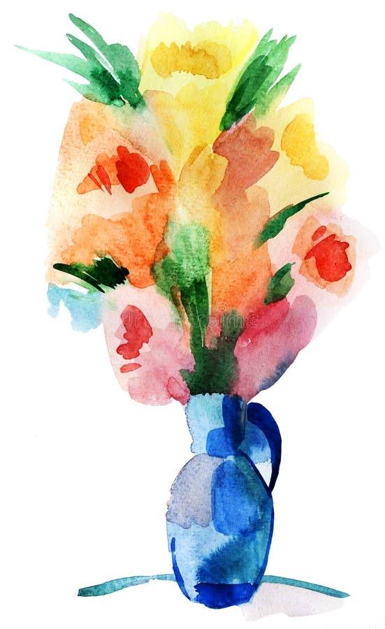 Цветки в вазе бесплатная иллюстрация
