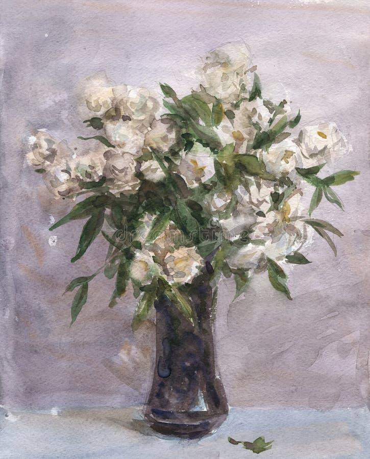 Цветки в вазе иллюстрация вектора
