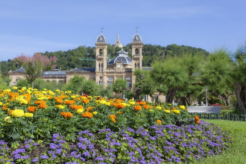 Цветки в San Sebastian, Испании стоковая фотография