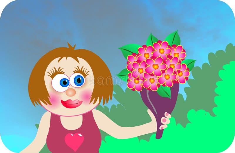 цветки говорят иллюстрация вектора