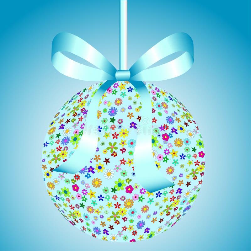 цветки голубого смычка шарика цветастые иллюстрация штока