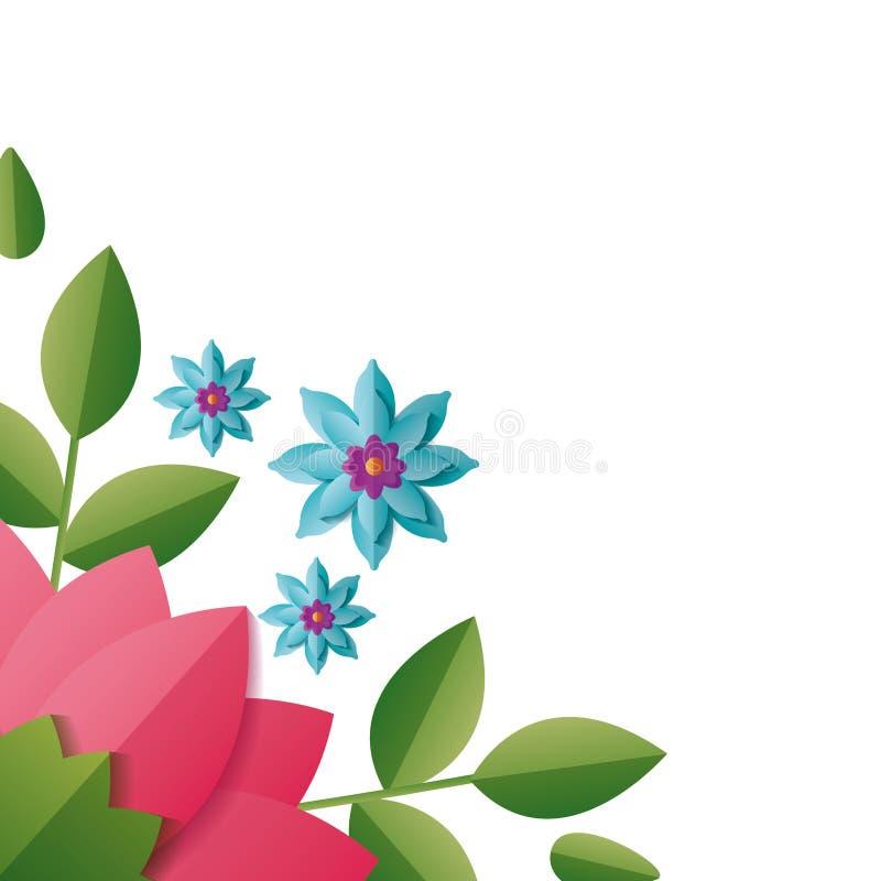 Цветки границы флористические иллюстрация вектора