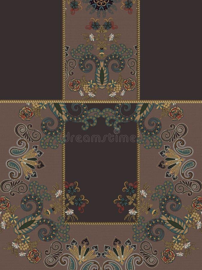 Цветки зимы геометрические коричневые конструируют стоковые фото