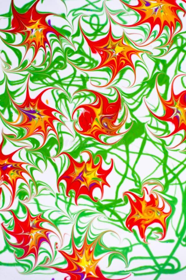 Цветки картины маслом стоковая фотография rf