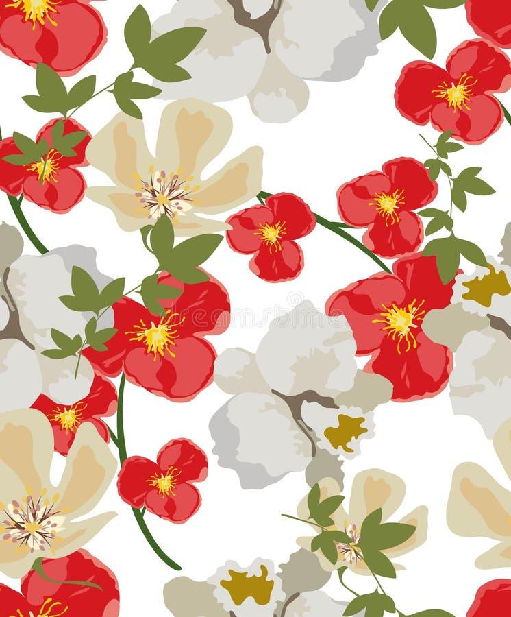 Цветки картины текстуры иллюстрация вектора