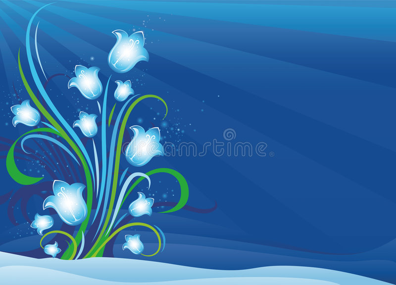 цветки колоколов первые освещая весну бесплатная иллюстрация