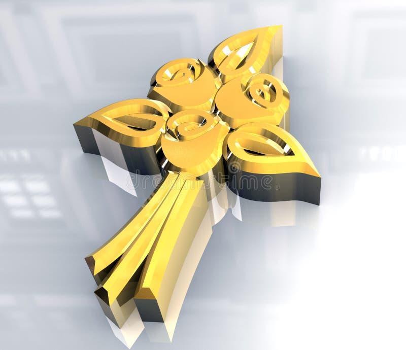 цветки компьютера 3d произвели венчание иконы бесплатная иллюстрация