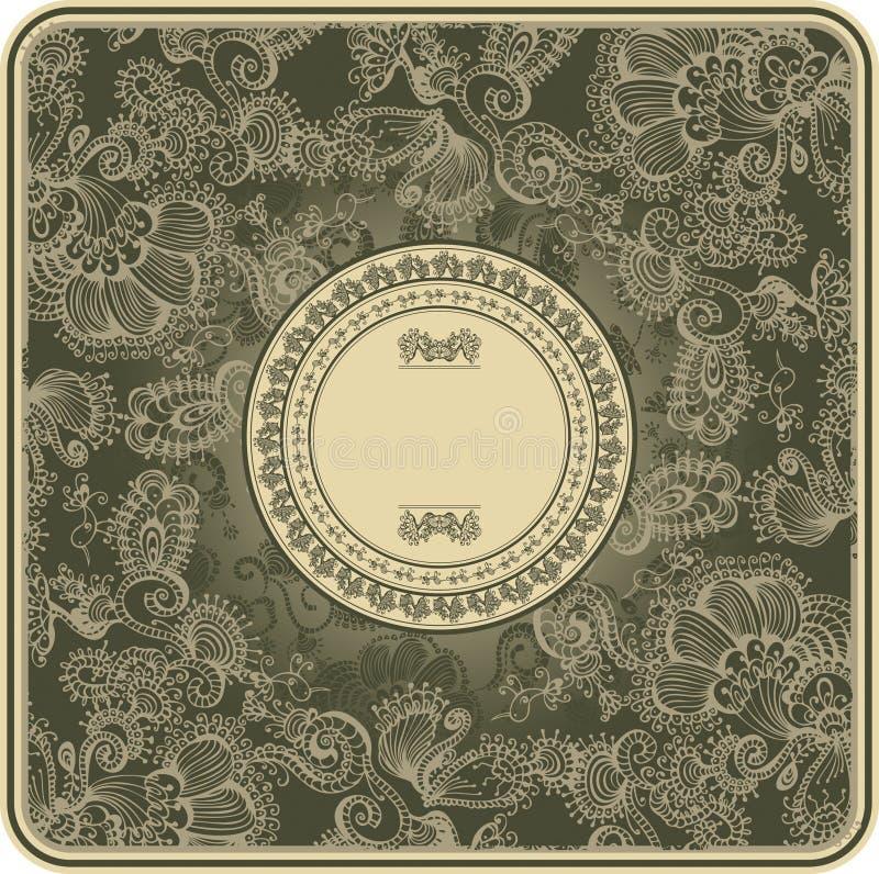 цветки конспектов обрамляют сбор винограда ornamenta бесплатная иллюстрация