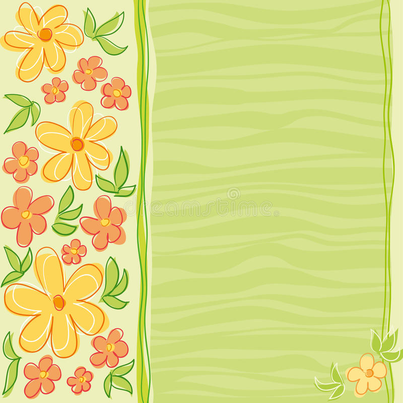 цветки конструкции карточки иллюстрация вектора