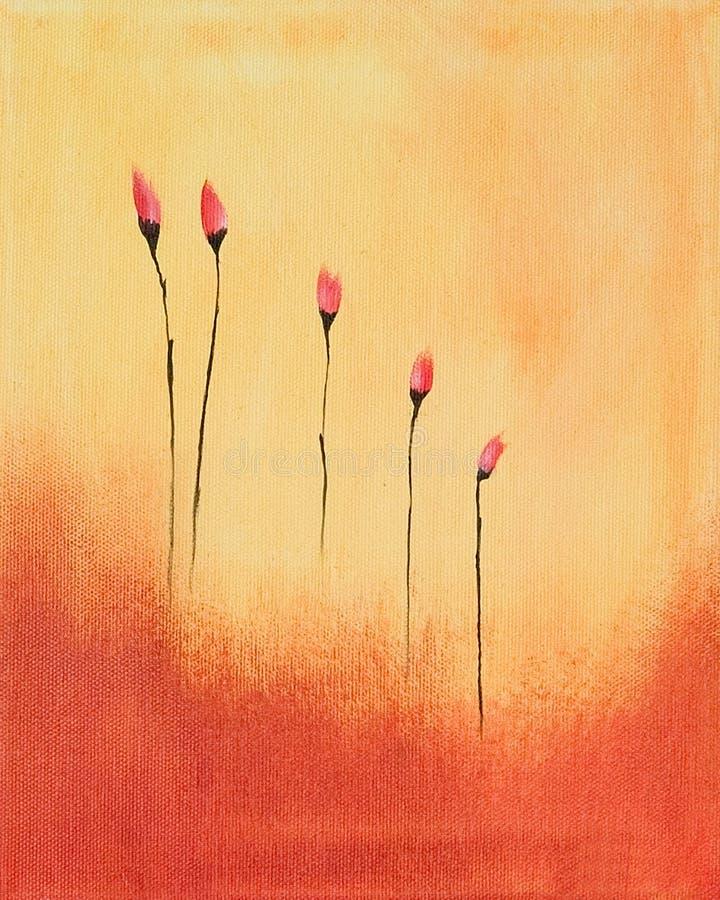 цветки крася красный цвет иллюстрация штока