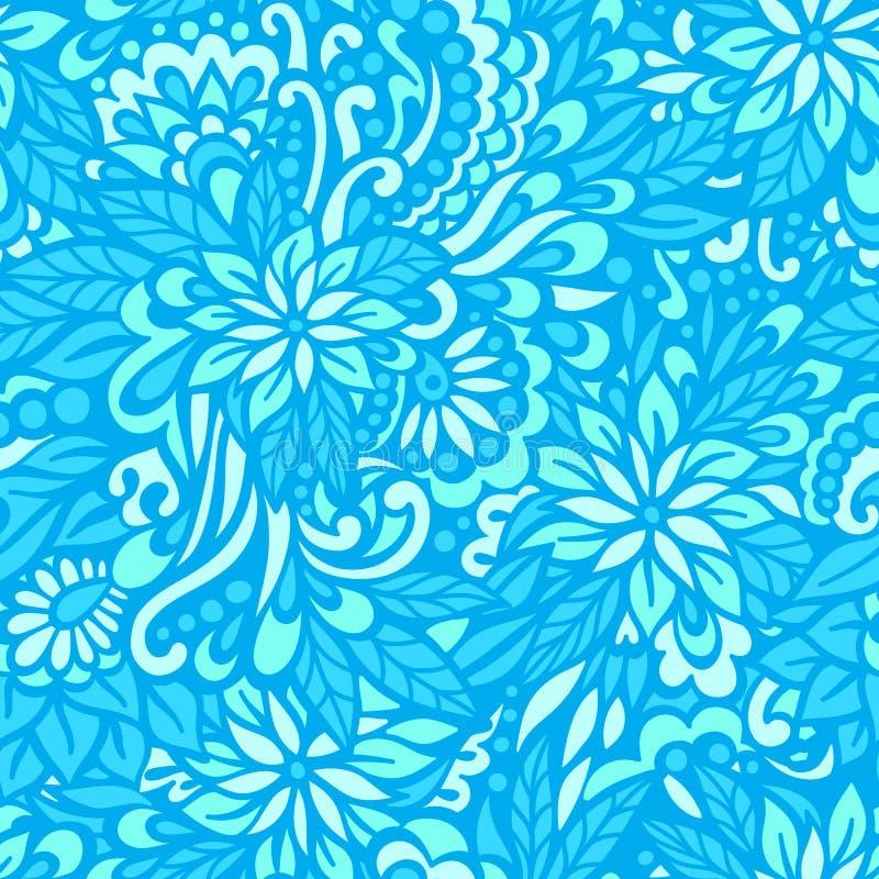 Цветки моря декоративная картина безшовная бесплатная иллюстрация