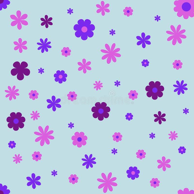 Цветки обрамляют предпосылку обоев иллюстрация вектора