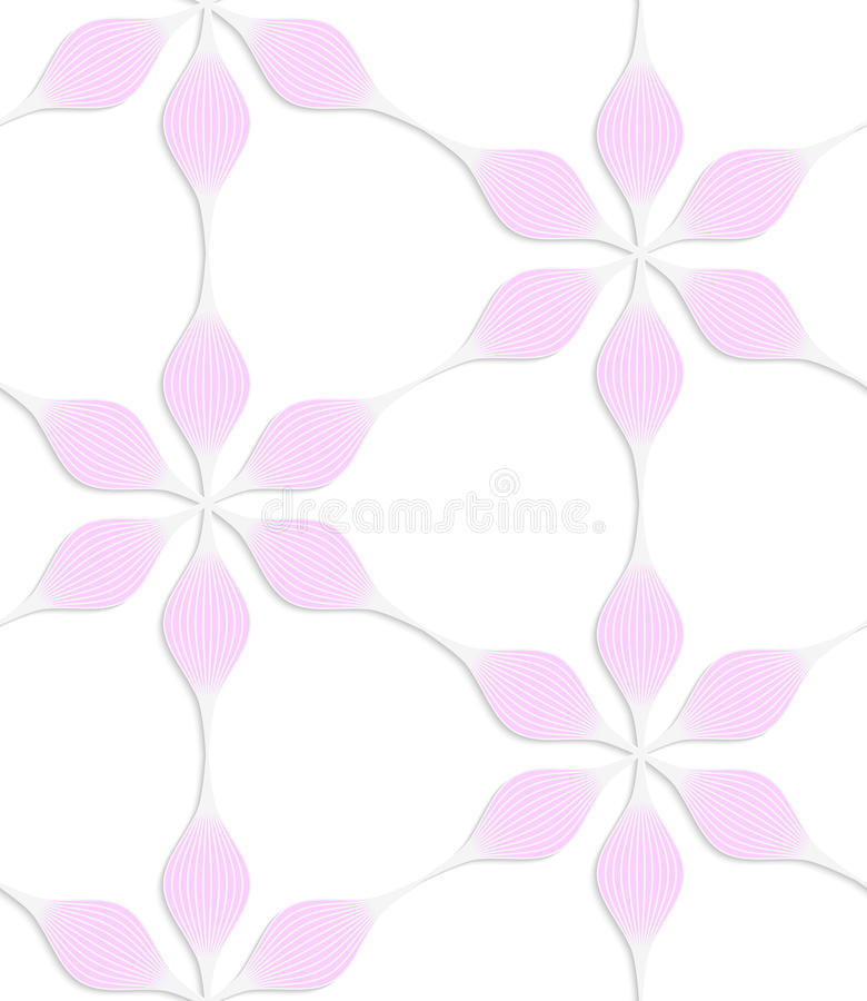 Цветки педали пинка 6 покрашенной бумаги белизны флористические иллюстрация штока