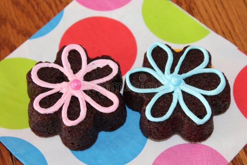 Цветки пирожного стоковые фото