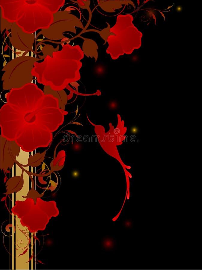 цветки предпосылки флористические красные бесплатная иллюстрация