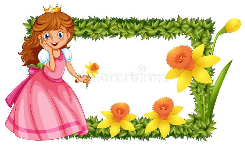 Цветки принцессы и daffodil бесплатная иллюстрация