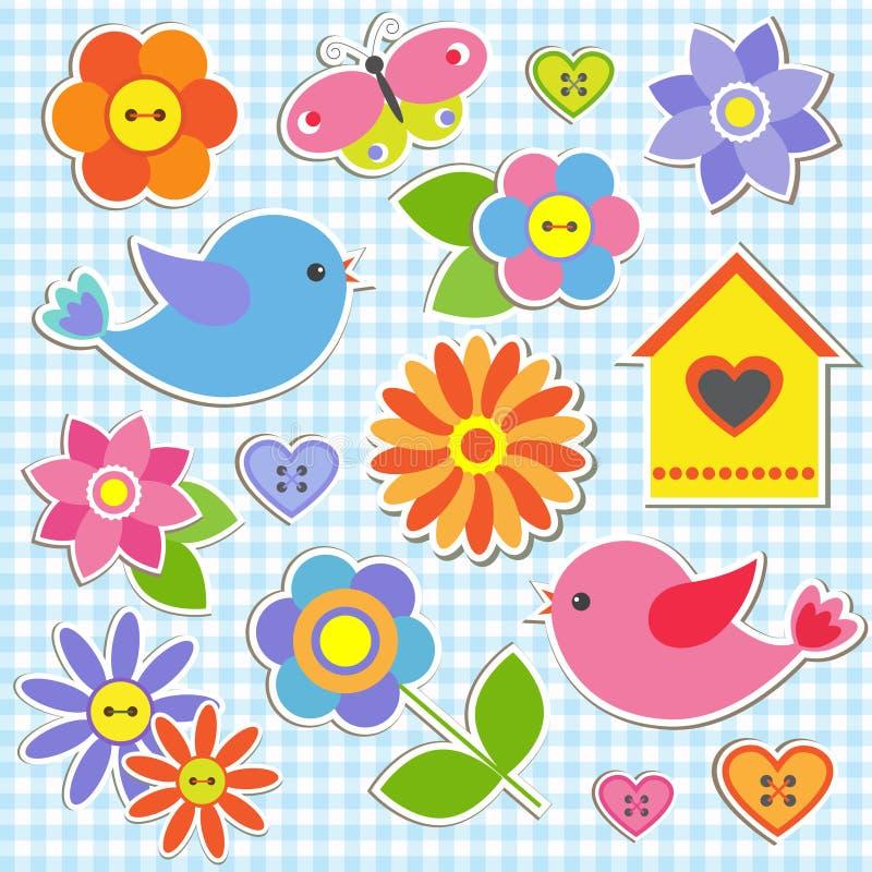 цветки птиц бесплатная иллюстрация