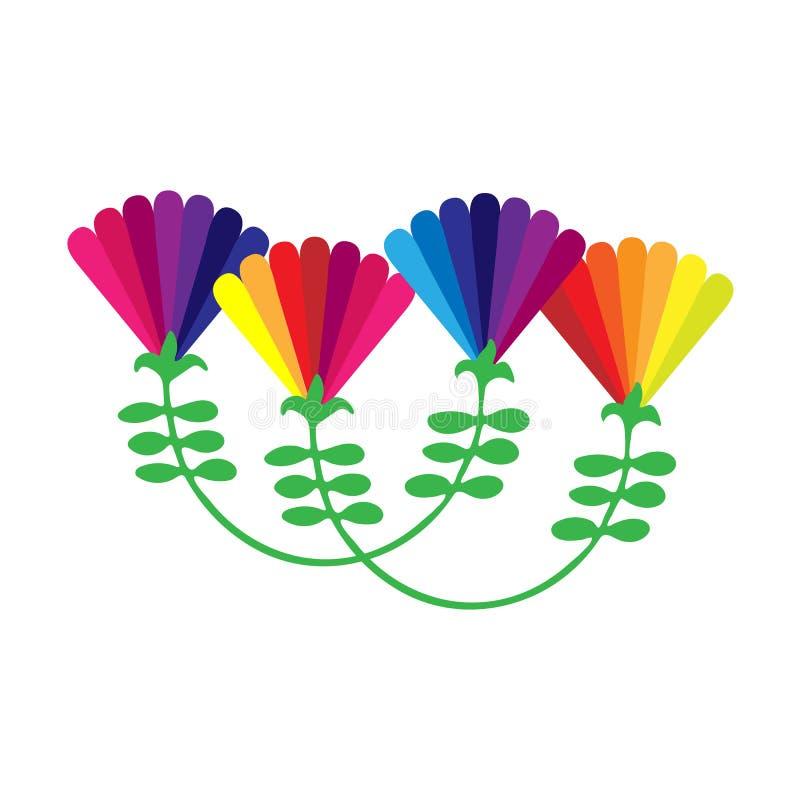 Цветки радуги иллюстрация вектора