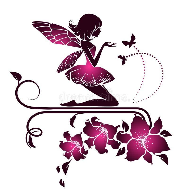 Цветки с винтажными элементами бесплатная иллюстрация