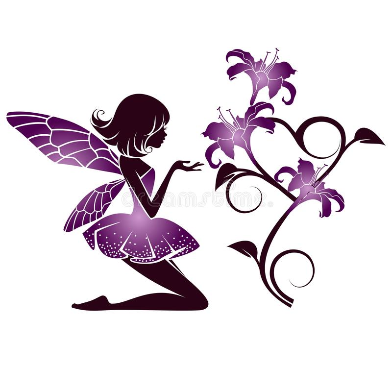 Цветки с винтажными элементами иллюстрация штока