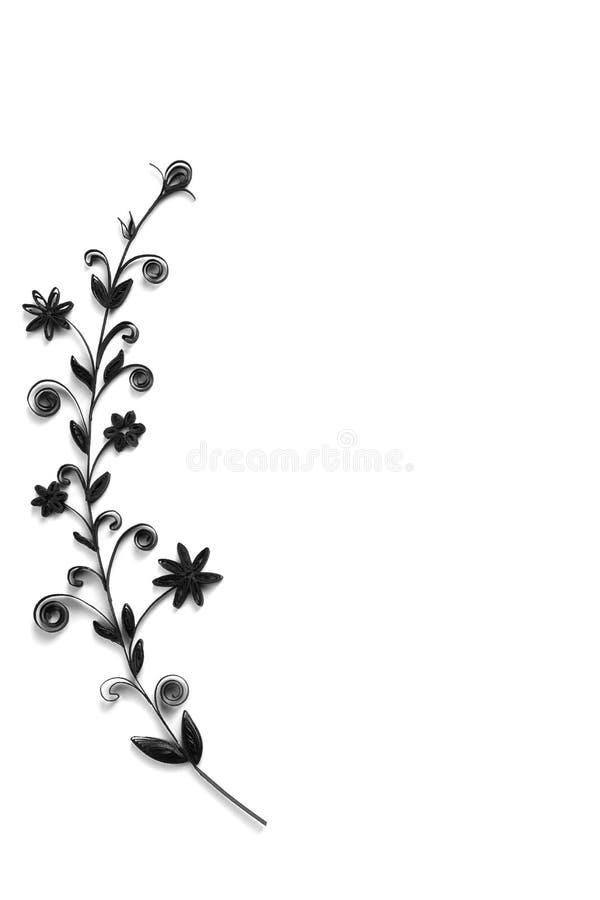 Цветки сделанные quilling на светлой предпосылке стоковое изображение rf