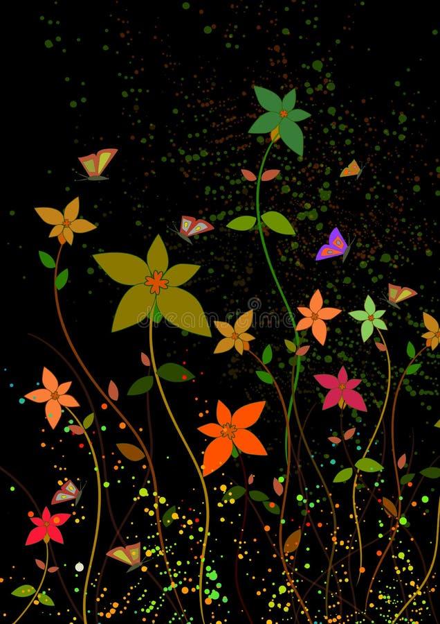 цветки темноты backround бесплатная иллюстрация