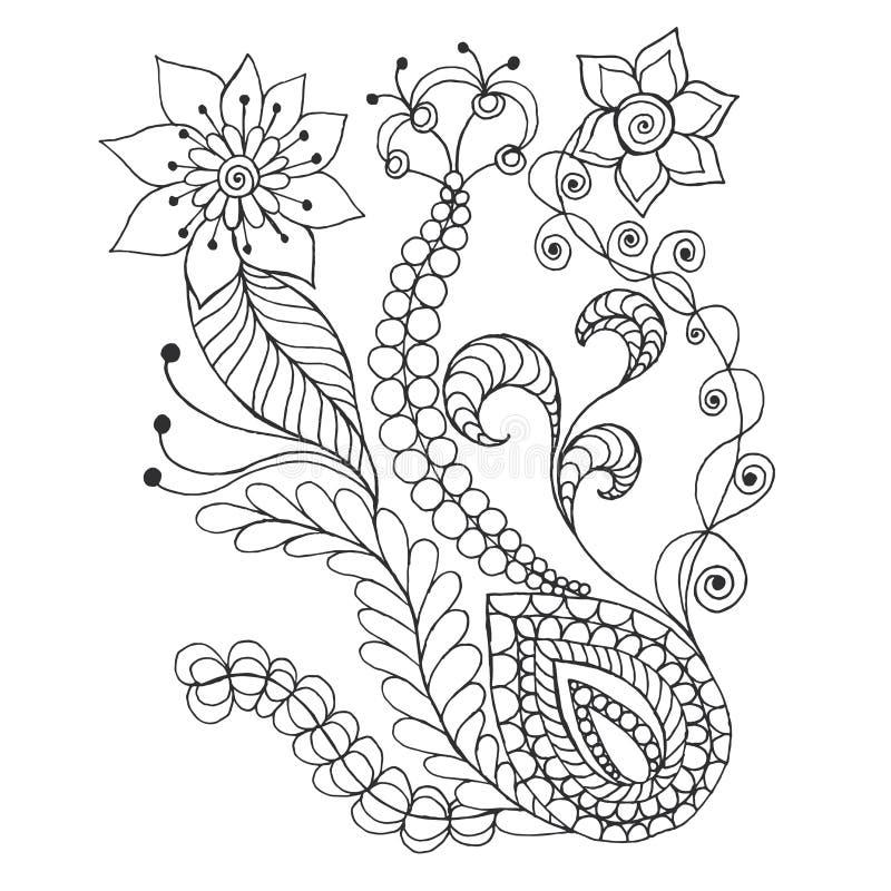 Цветки фантазии иллюстрация штока