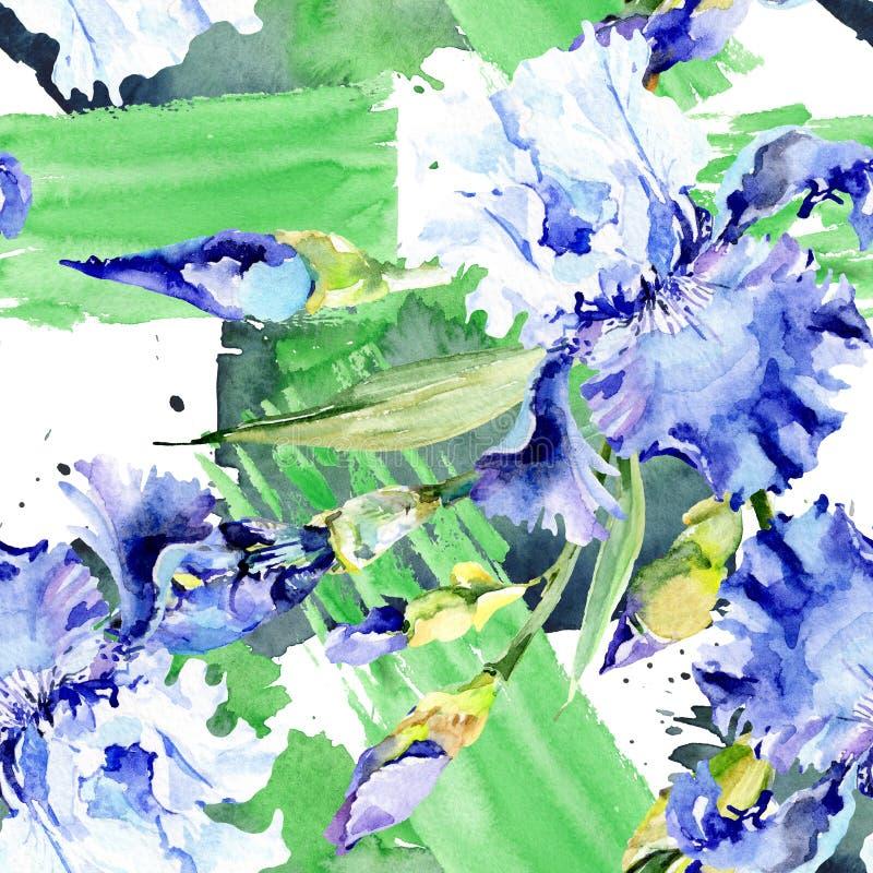 Цветки фиолетовой радужки флористические ботанические r r иллюстрация штока