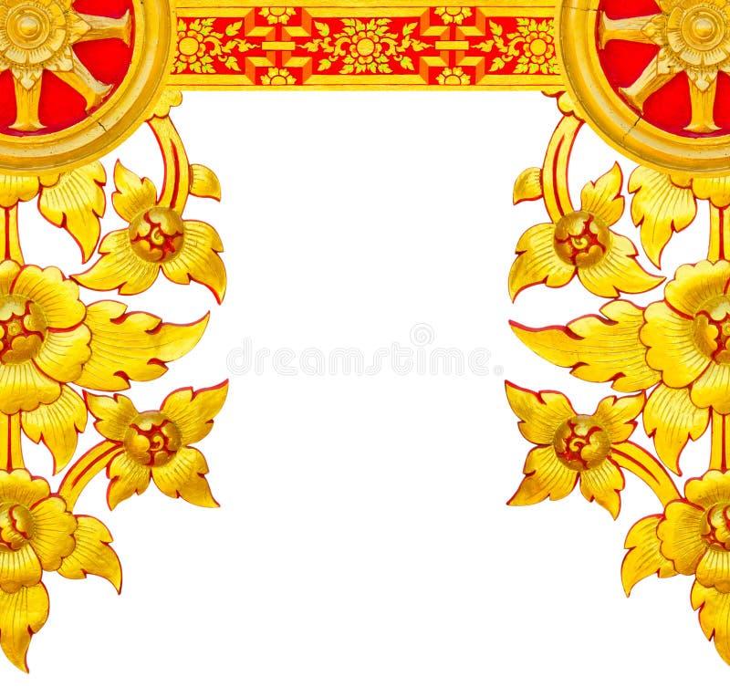 Цветки ШТУКАТУРКИ золотые стоковое изображение rf