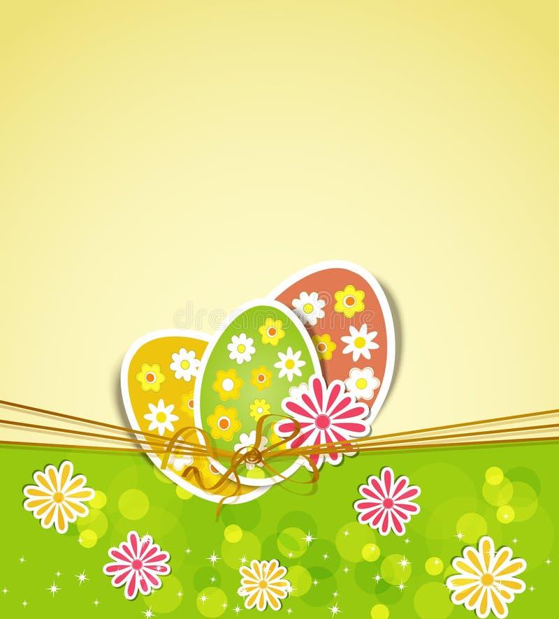 цветки 3 пасхальныхя иллюстрация штока