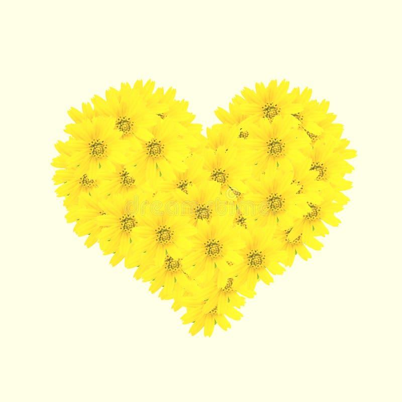 цветки 3d произвели изображение сердца стоковые фотографии rf