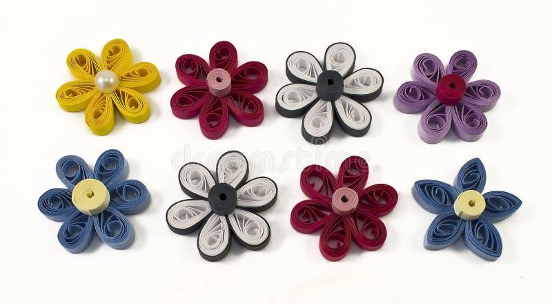 Цветки Quilling пестротканые стоковая фотография rf