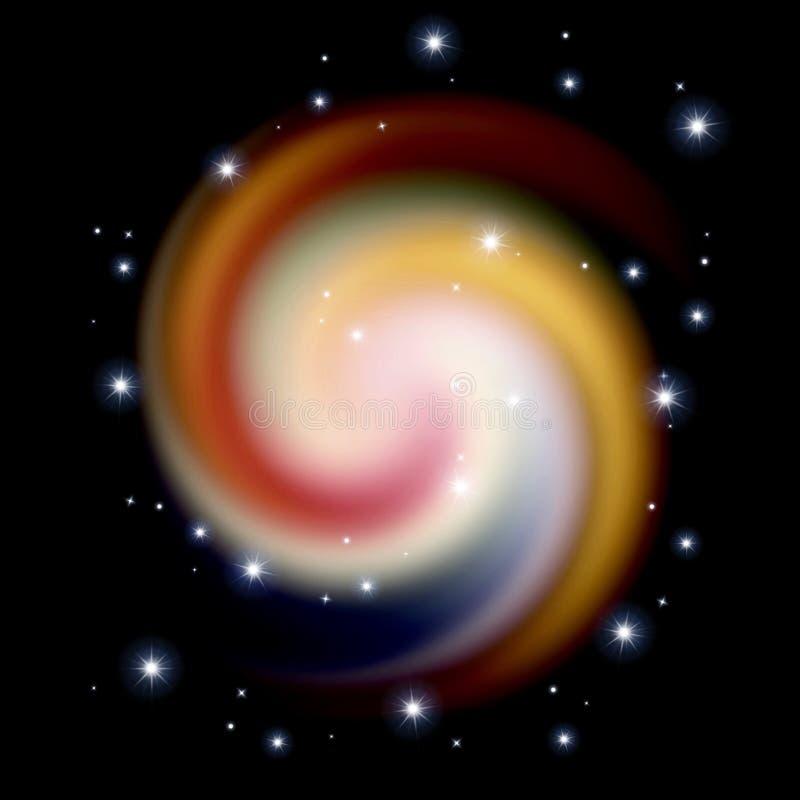 Цветная спираль иллюстрация штока
