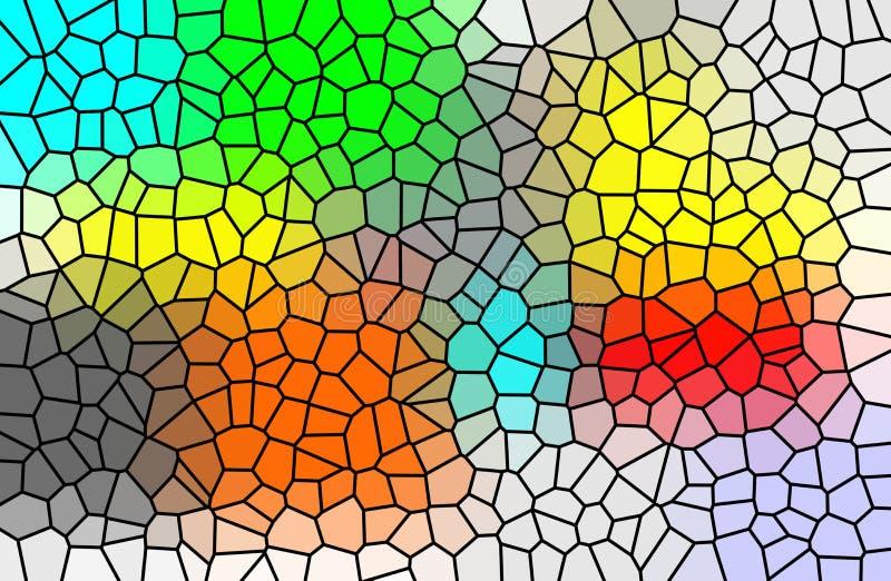 Цветное стекло и картина multi цвета геометрическая иллюстрация вектора