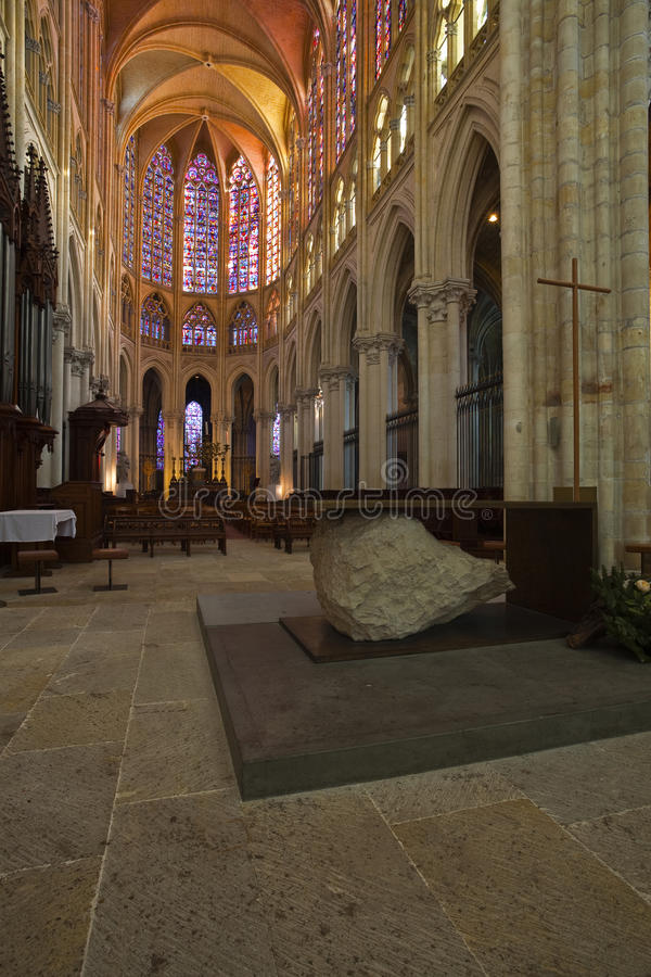 Цветное стекло святой Gatien стоковые фотографии rf
